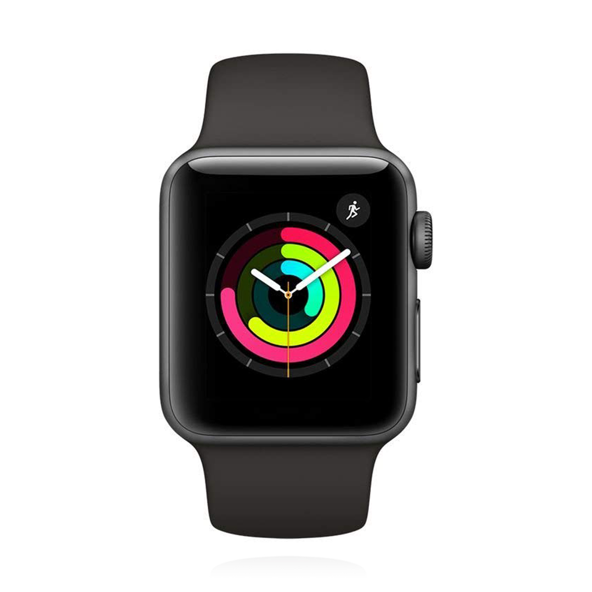 Apple WATCH Series 3 38mm GPS spacegraues Aluminiumgehäuse mit grauem Sportarmband