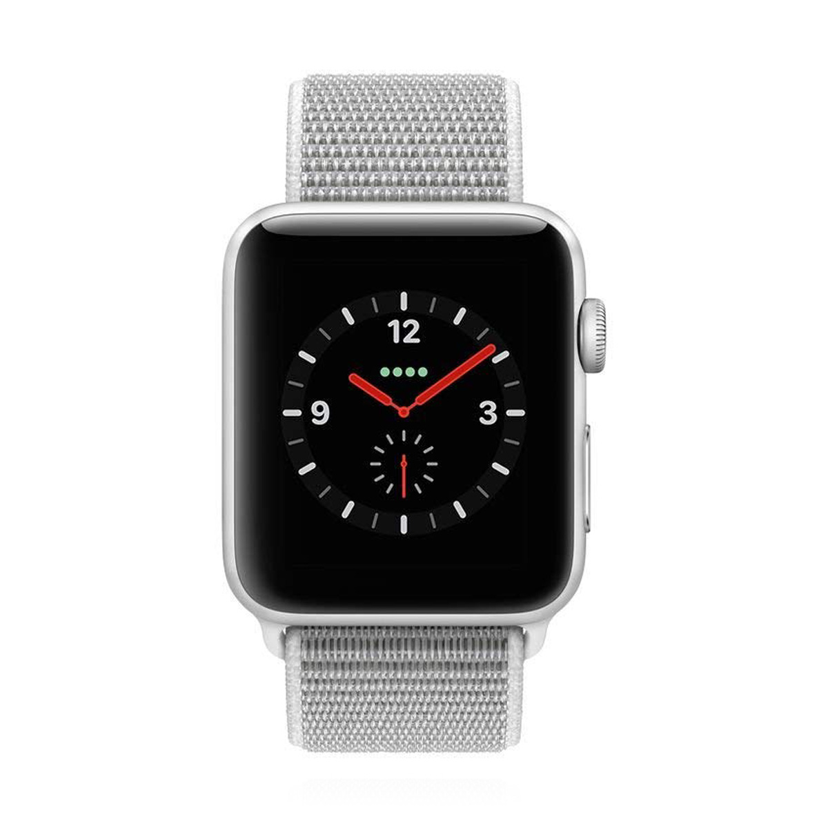 Apple WATCH Series 3 GPS+Cellular 42mm silbernes Aluminiumgehäuse mit seashell Sport Loop