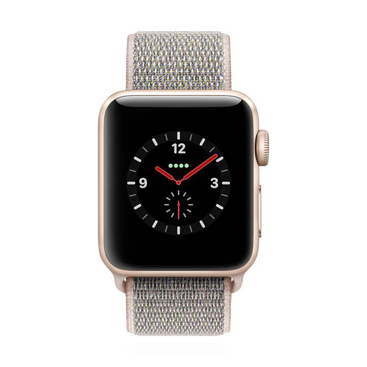 Apple WATCH Series 3 GPS + Cellular 38mm goldenes Aluminiumgehäuse mit Sport Loop pink sand