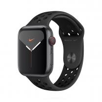 Apple WATCH Nike Series 5  44mm Cellular Aluminiumgehäuse Spacegrau Sportarmband Anthrazit Schwarz