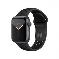 Apple WATCH Nike Series 5 40mm GPS Aluminiumgehäuse spacegrau Sportarmband Anthrazit Schwarz
