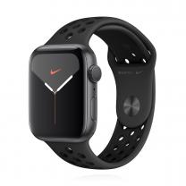 Apple WATCH Nike Series 5 44mm GPS Aluminiumgehäuse Spacegrau Nike Sportarmband Anthrazit Schwarz