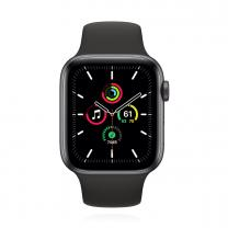 Apple WATCH SE 40mm Cellular Aluminiumgehäuse Space Grau Sportarmband Schwarz