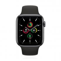 Apple WATCH SE 44mm Cellular Aluminiumgehäuse Space Grau Sportarmband Schwarz